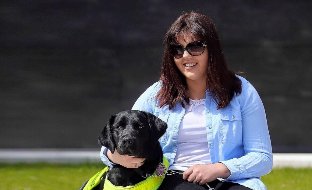 Girl with Guide Dog