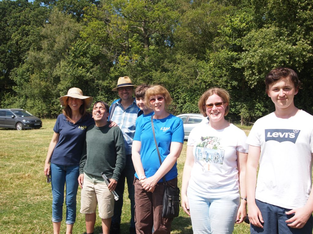 a group shot of look some of LOOK staff and volunteers in the sun shine.