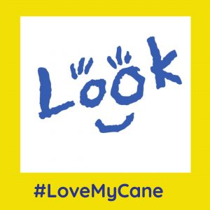 look logo framed with yellow love my cane branding .