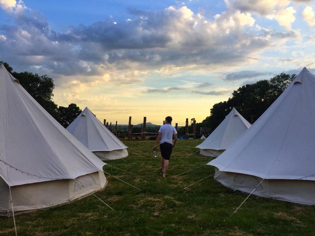 Festival tents at Lookfest