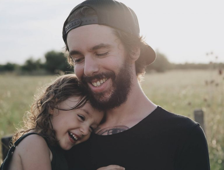 Man with young girl